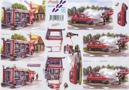 Fireman 3d Decoupage Craft Sheet from Le Suh